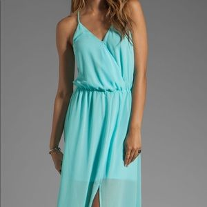Brand New Rory Becca Sheer Teal Gown